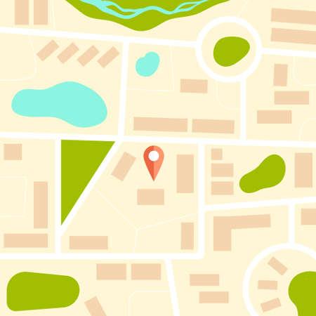 Modèle de carte graphique abstraite faite dans le vecteur. Plat architectural illustration. Plan de la ville, plan de la ville. Banque d'images - 34217091