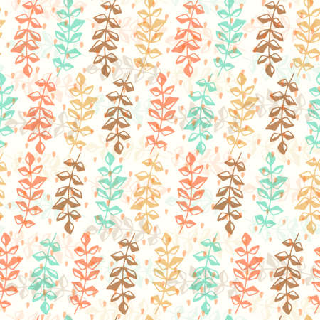 Cute seamless texture with perfect natural leaves anf flowers. Hand drawn botanical background. Use this pattern for wedding invitations, wraping or as a background on your website. Eps10 vector. Vector