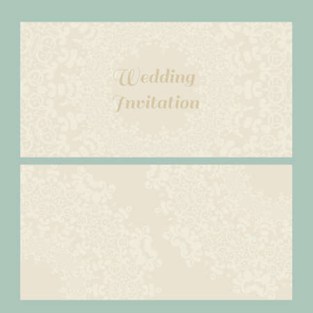 minted: Vector lace card in Victorian style. Ornate element for design and place for text, perfect for invitations, greeting cards, save the date and wedding cards. Illustration