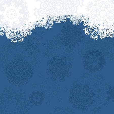 Beautiful Christmas card with snowflakes made in vector. Xmas abstract template. Use it for invitation card or congratulations.