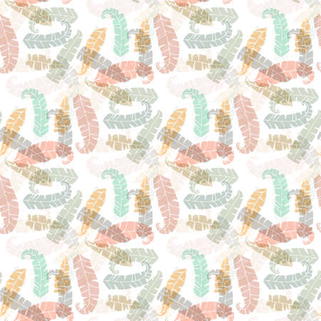 Cute seamless texture with perfect natural leaves. Hand drawn botanical background. Use this pattern for wedding invitations, wrapping or as a background on your website. EPS 10. Vector