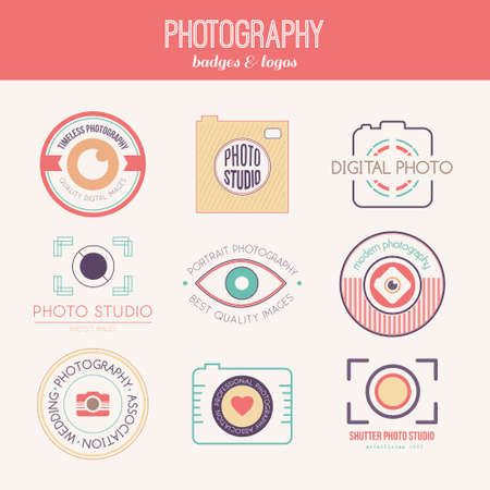 photography: Vector collection of photography icon templates.