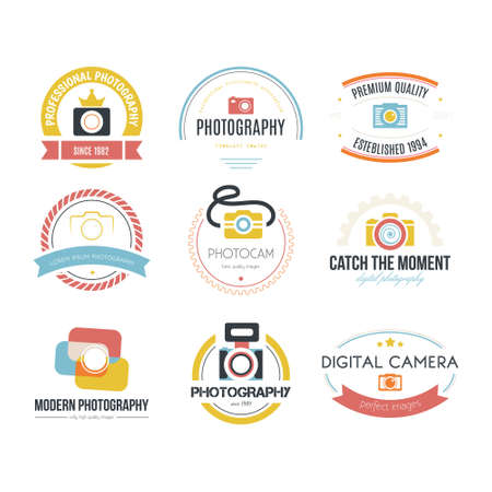 Vector collection of photography icon templates. Vector