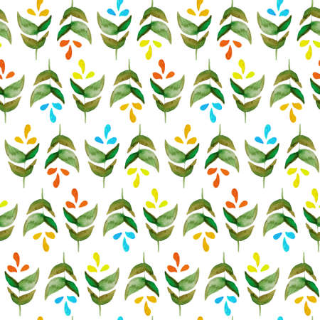 Handpaint watercolor vector seamless pattern. Perfect hand drawn texture for invitations, cards, DIY projects, web sites or for any other design. Vector