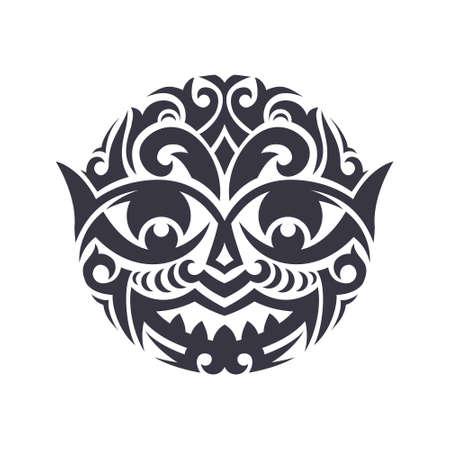 部族マスク ベクターで行われました。伝統的なトーテム シンボルが分離されました。