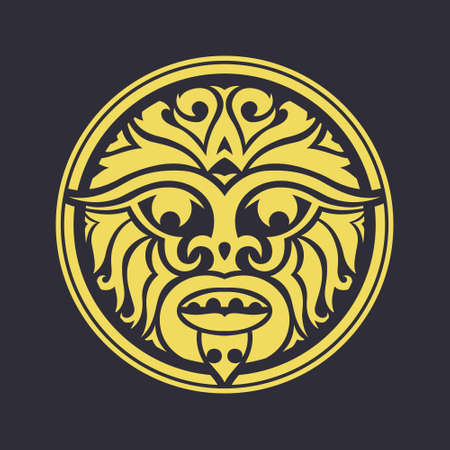 Tribal mask made in vector. Traditional totem symbol isolated. Vector