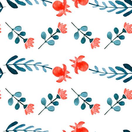 Acuarela Floral Sin Patrón. Beautiful Vector Dibujado A Mano Textura ...