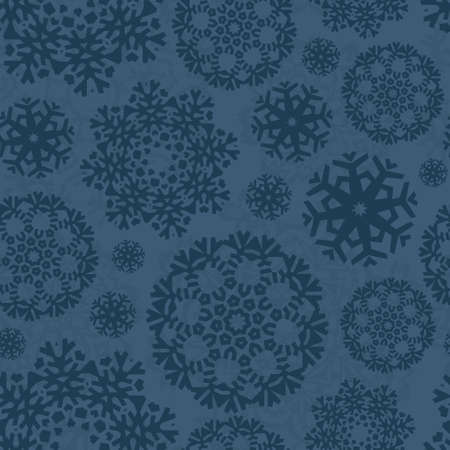 Christmas seamless pattern with ornamental snowflakes made . Xmas texture. Graphical holiday for invitations. Vector