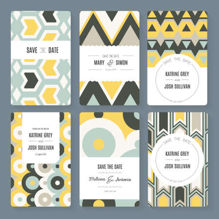 baby shower party: Stylish save the date or wedding invitation card collection.