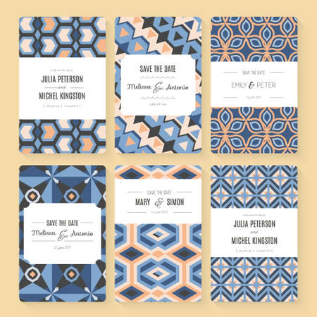 bridal shower: Stylish save the date or wedding invitation card collection.
