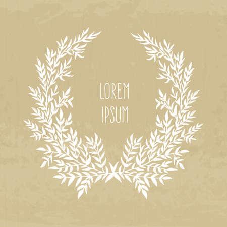 texturized: Hand drawn laurel on textured background