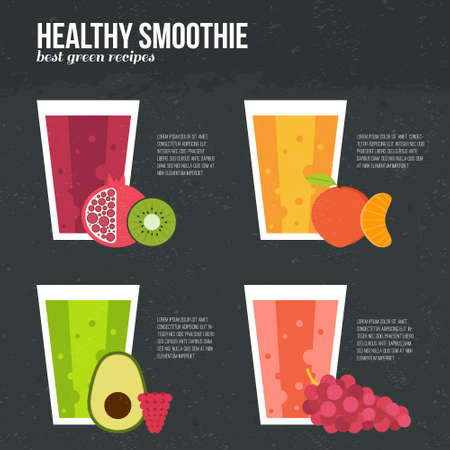 fruit smoothie: Fruit smoothie concept