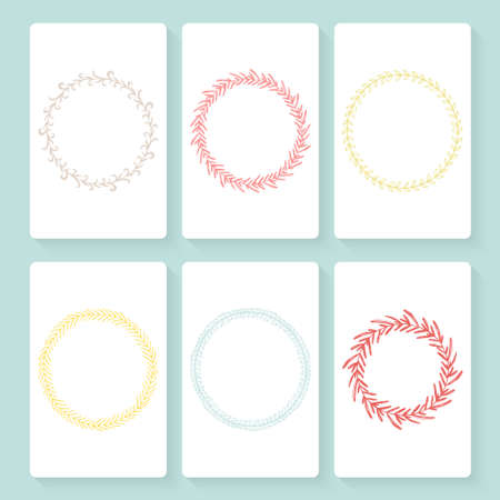 Collection of vector card templates with hand drawn frames. Space for your text. Invitation card template design. Vector