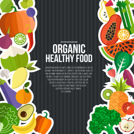 Diet and organic food template