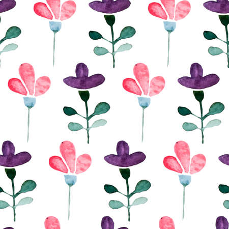 hand painted: Floral watercolor seamless pattern Illustration