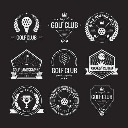 golf tee: Set of golf club templates