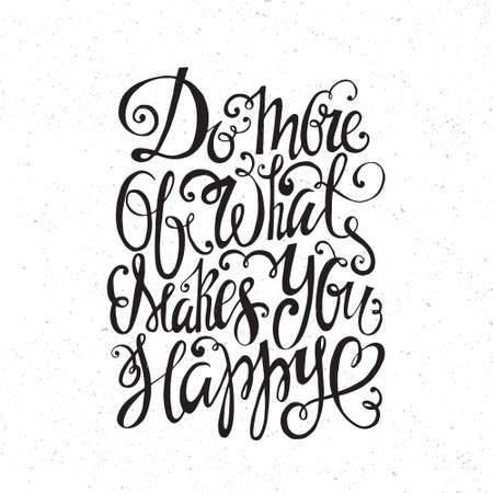 romantique: Hand drawn citation inspir�e et en encourageant