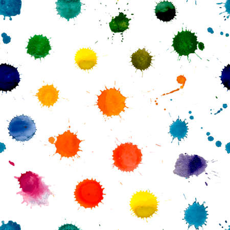colorful paint: watercolor seamless background.