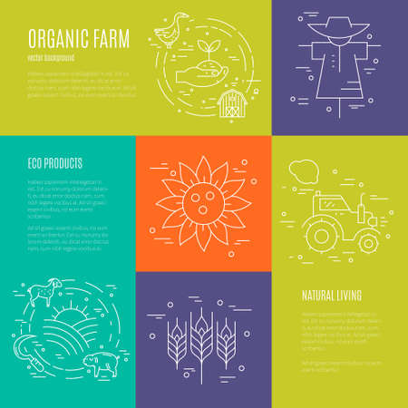 stead: Perfect linear style vector agricultural template.Great linear style conceptual banner template. Agricultural series.