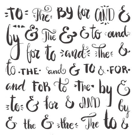 catchword: Set of hand sketched ampersands and catchwords made in vector. Great design element collection for wedding invitations, save the date cards and other staionary.
