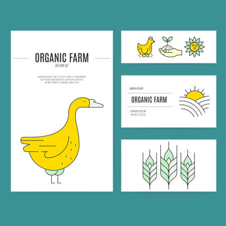 stead: Farming and agricultural industry business identity elements. Easy to edit vector template. Perfect and clean layout.