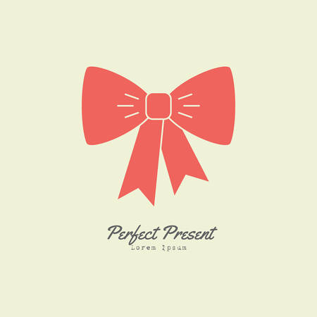 line style logotype template with colored bow easy to use business