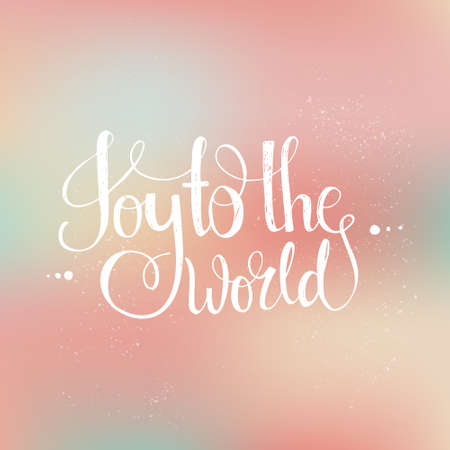 joy: Joy to the world - handdrawn lettering. Vector art. Perfect decoration element for cards, invitations and other types of holiday design. Xmas design.