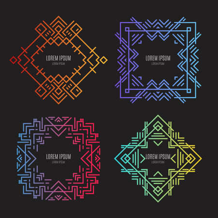ornamental frame: Clean and modern vector geometrical bundle. Clean and simple templates. Illustration