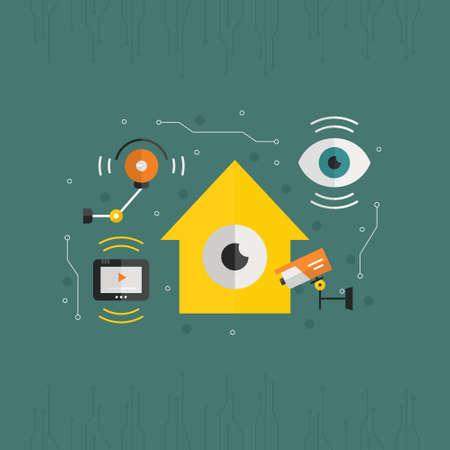surveillance camera: Security or surveillance camera concept.