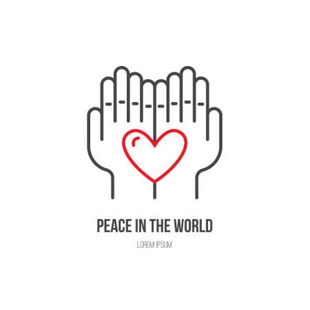 heart hands: Heart in hands - symbols for non-profit organization