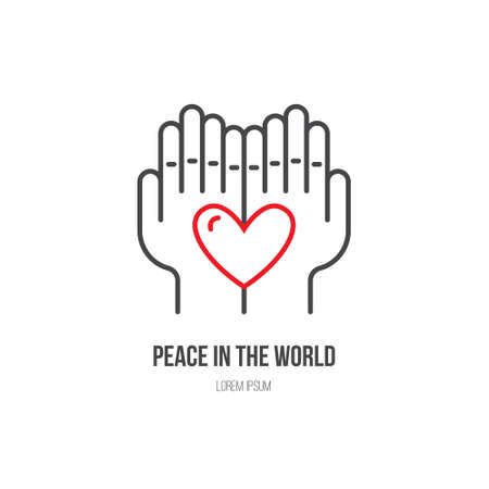 Heart In Hands Symbols For Non Profit Organization Royalty Free