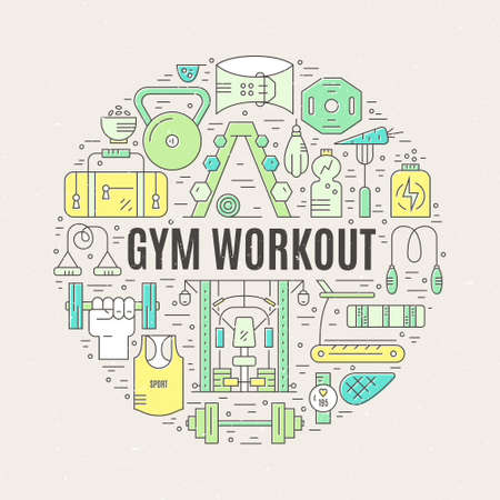 workout gym: Sport and fitness design element
