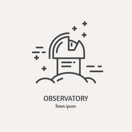 logo Observatoire fait dans la mode vecteur ligne stile.