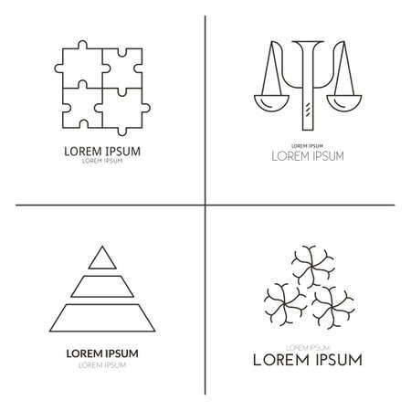 Sammlung Von Logo-Vorlagen Für Psychologie Und Beratung. Psychologie ...