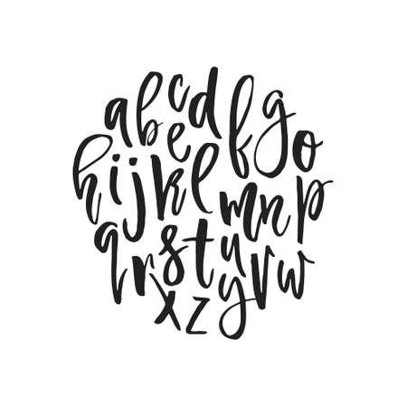 calligraphie arabe: alphabet vecteur unique. police de calligraphie moderne. lettres de vecteur isolé et facile à utiliser. alphabet latin. Poster éducatif.