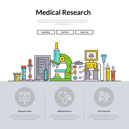 Web-Seite Design-Vorlage mit verschiedenen medizinischen Symbole und Ikonen. Held Bild Konzept für die medizinische Seite. Website-Layout.