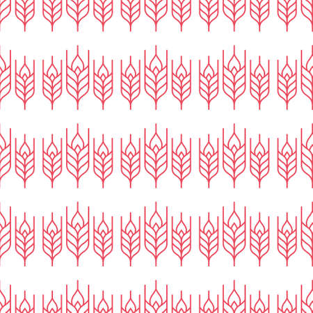 gather: Vector seamless pattern with wheat. Modern agricultural texture with elements made in line style.