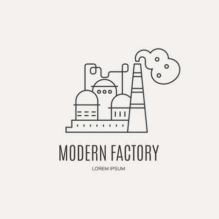 Fabrikgebäude Logo