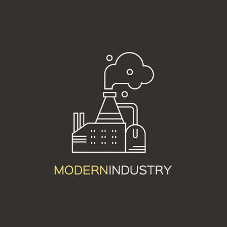 clipart chimney: Simple factory logotype made in vector. Illustration
