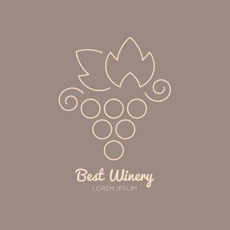 포도와 와인 로고