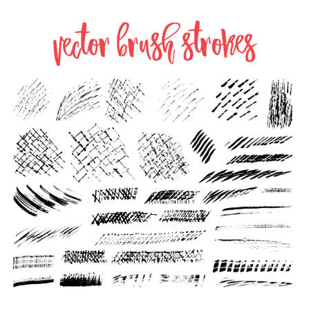 nakładki: Collection of handdrawn vector textures. Brush strokes and skretches for grunge look. Brush templates for vector art. Creative hand painted textures - can be used for art overlay, background or as a placeholder for your text.