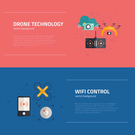 footage: Banner collection with aerial photography, innovative delivery - drone related innovations. Technology and innovations collection.