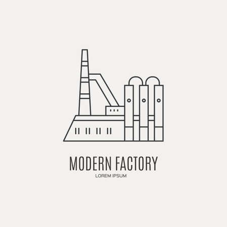 Industrial logo template.
