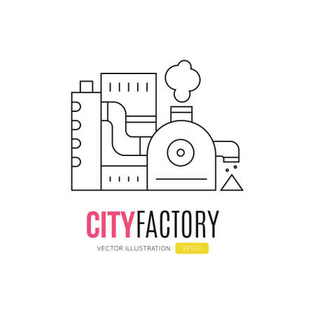 Simple factory logotype made in vector. Ilustrace