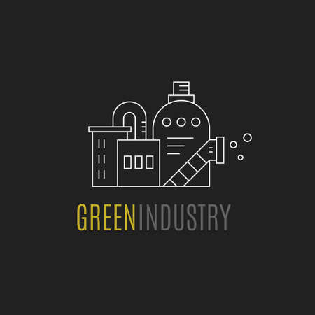 Factory building logo
