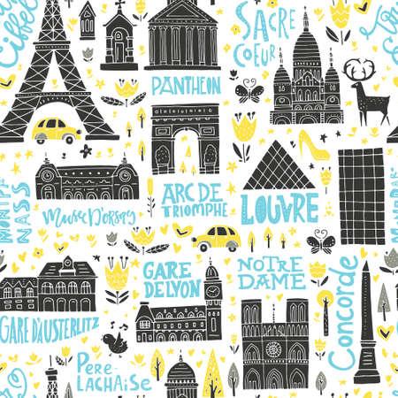 Collection Of Paris Tourist Attractions France Symbols Clipart