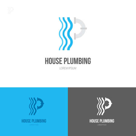 refit: Plumbing logo illustration made in flat style vector.