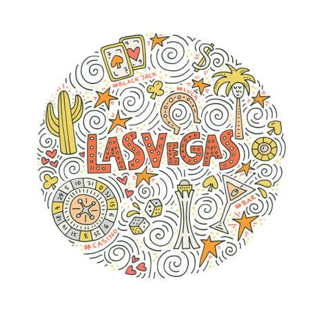 手描きラスベガス記号のベクトル イラスト