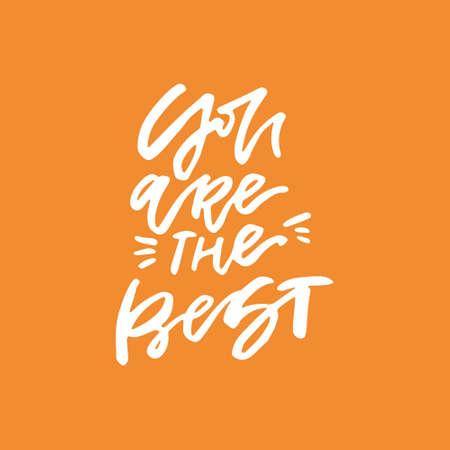 Du bist der beste - romantische Schriftzug. Handgezeichnetes Zitat. Standard-Bild - 83943673