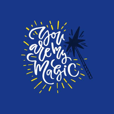 Sei sei magia - romantico disegnato a mano lettering . Archivio Fotografico - 83943676